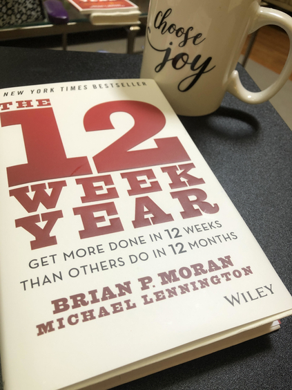 "Photo of the book ""The 12 Week Year"""