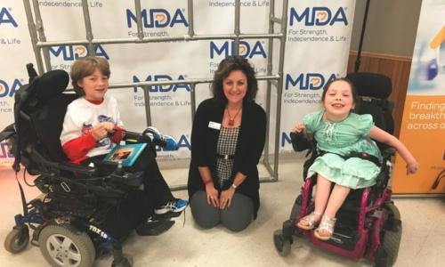 Beth with MDA Kids