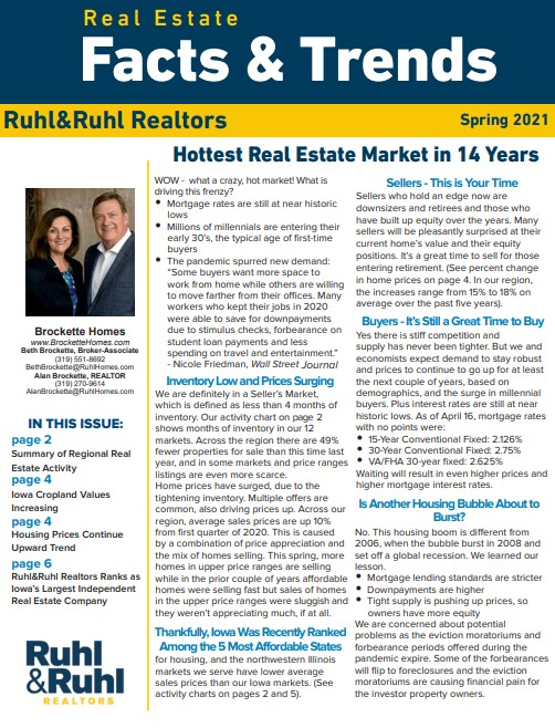 Real Estate Facts and Trends Spring 2021